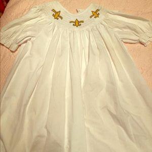 Other - Fleur-de-lis Smocked Dress